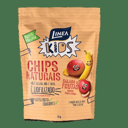 Linea Kids Chips Naturais De Salada De Frutas 12G - 8 Unidades