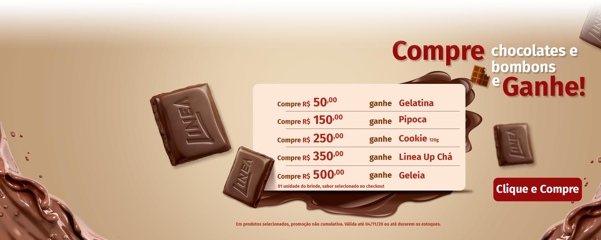 Chocolates progressivo